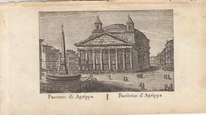 Panteon di Agrippa Roma Italia Orig Kupferstich Vasi 1816