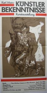 Frank Ruddigkeit Karl Marx Künstlerbekenntnisse Orig Plakat DDR 1983