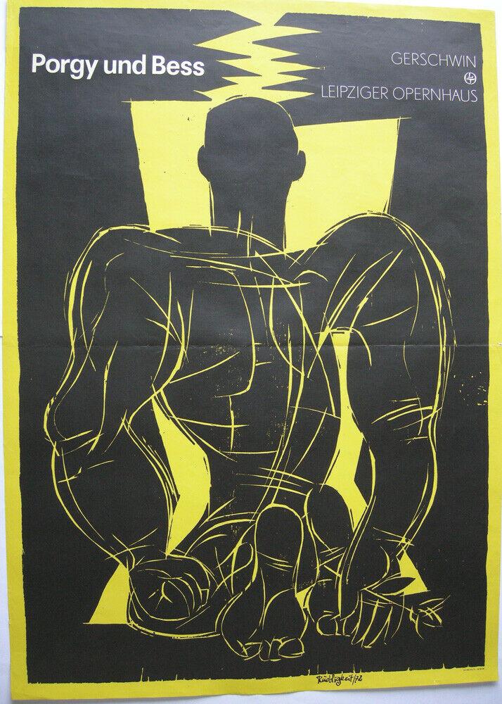 Frank Ruddigkeit Porgy und Bess Oper Leipzig Orig Plakat DDR 1970 Geshwin 0