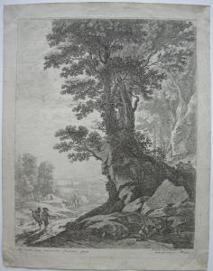 Herman van Swanevelt (c. 1603/04-c.1655) Landschaften Bäume Radierung  1650