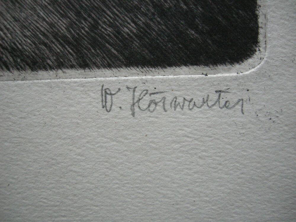 Wilhelm Hörwarter (1883-1963) Märchen Orig. Radierung signiert 1910 3