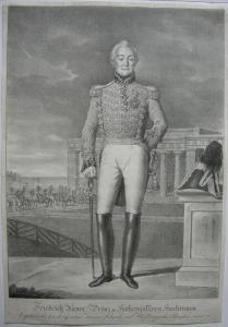 Friedrich Xaver zu Hohenzollern Hechingen Orig. Lithografie Lanzedelly 1830