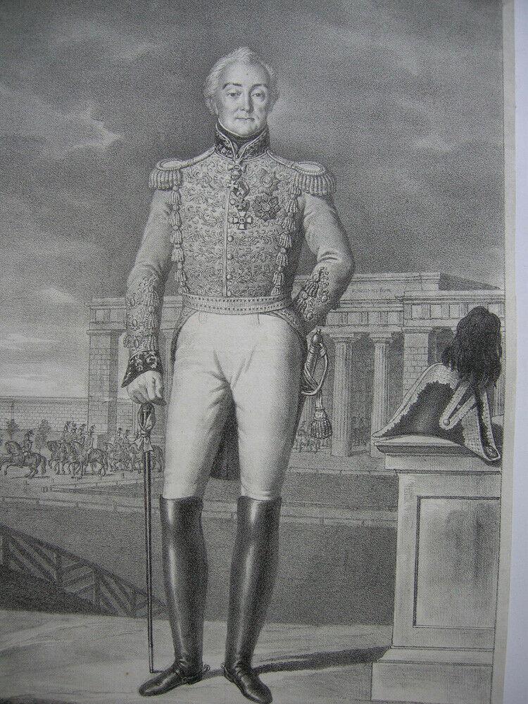 Friedrich Xaver zu Hohenzollern Hechingen Orig. Lithografie Lanzedelly 1830 1