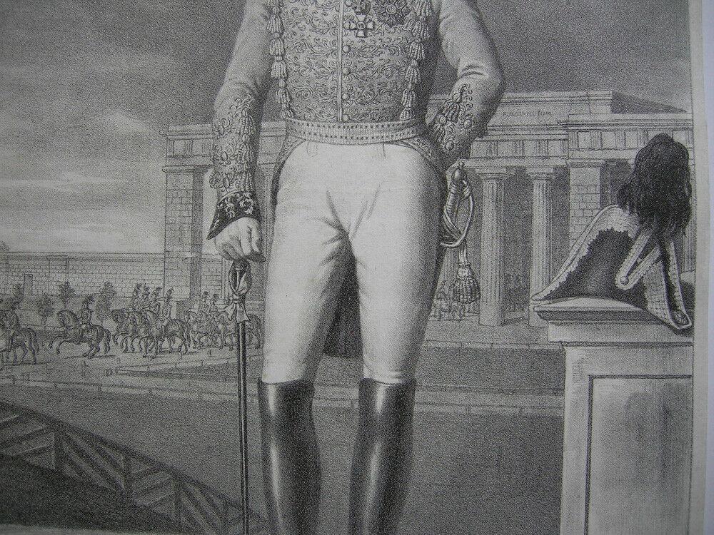 Friedrich Xaver zu Hohenzollern Hechingen Orig. Lithografie Lanzedelly 1830 2