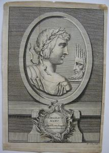 Publ. Virgilius Maro röm Dichter Portrait Orig Kupferstich 1800 Antike  B Cole