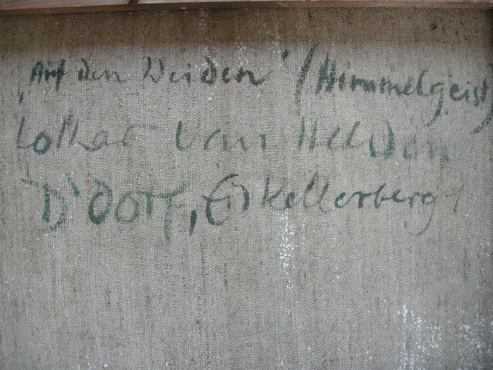Lothar van Helden (XX. Jh.) Düsseldorf Auf den Weiden Himmelgeist Öl Leinen sign 5