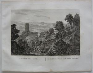 Ahrtal Linz Neuwied Rhein Orig Kupferstich J. Roux 1822 Rheinland Pfalz