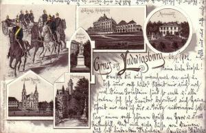 Ak Ludwigsburg Mehrfachbild Marienwahl Soldaten Schloss gel 1902 Litho