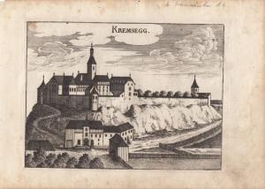 Kremsegg Kremsmünster Oberösterreich Orig Kupferstich G. M. Vischer 1674