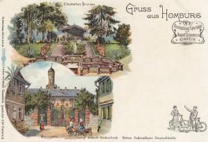 Ak Homburg v. d. H. Hessen Schloss Stukenbrok Fahrrad Litho ungelaufen 1900