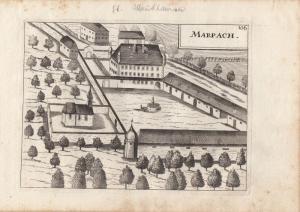 Marbach Ried Riedmark Niederösterreich Orig Kupferstich G. M. Vischer 1674