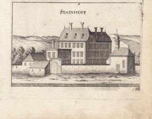 Steinhof Niederösterreich Hernstein Orig Kupferstich G. M. Vischer 1672