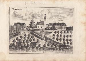 Traunegg Thalheim Wels Oberösterreich Orig Kupferstich G. M. Vischer 1674