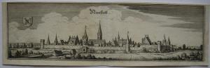 Neustadt Donau Niederbayern Gesamtansicht Orig Kupferstich M. Merian 1650