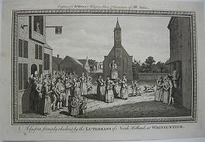 Brauch Lutheraner Whitsuntide Nord Holland Niederlande Orig Kupferstich 1790