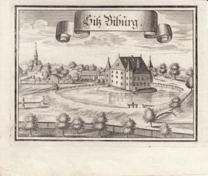 Sitz Biburg Ebersberg Oberbayern Orig Kupferstich Wening 1701