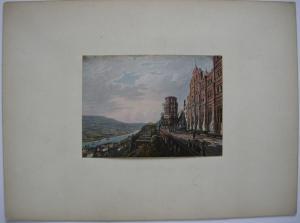 Heidelberg Schloss altkolor Stahlstich Weber Prestel 1840 Jügel Baden-Württemb