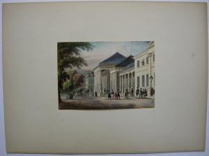 Baden-Baden Kursaal altkolor Stahlstich Hürlimann 1840 Jügel Baden-Württemb