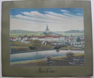 Kaisheim Donau-Ries Orig Farbzeichnung Jos. Rümele um 1900 signiert Schwaben