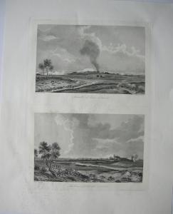 Schlacht Jena Eroberung Erfurth Napoleon  Stahlstich 1837 Thüringen