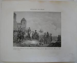 Napoleon Einmarsch Armee Österreich Orig Lithographie 1832 Napoleonische Kriege