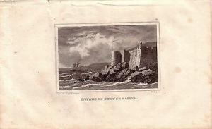 Korsika Corse France Entrée du Port de Bastia Stahlstich Gravure de fer 1850