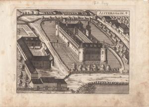 Aistersheim Grieskirchen Oberösterreich Orig Kupferstich G. M. Vischer 1674