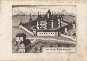 Mühlgrub B Hall Traunviertel Oberösterreich Orig Kupferstich G. M. Vischer 1674