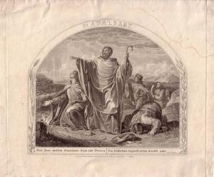 St. Adalbert Stahlstich G. Döbler 1880 Heilige Hagiographie Märtyrer Böhmen