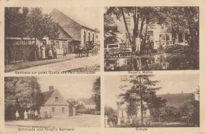 AK Rossdorf Gasthaus Quelle Mühle Schule Schmiede gel 1917 Sachsen-Anhalt
