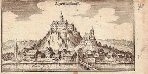 Donaustauf Oberpfalz Bayern Orig Kupferstich Merian 1650