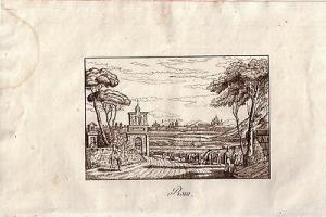 Rom Gesamtansicht Roma Orig Kupferstich  Kornmayr 1833  Italien Italia