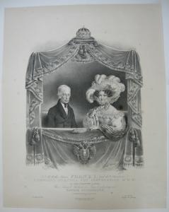 Franz I Carolina Augusta Kaiserpaar Österreich Orig Lithographie Kriehuber Ender