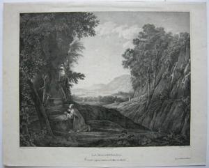 Ph. Blanchard (1805-1873) La Madrugada Morgendämmerung Ori. Lithografie 1850