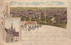 AK Ansbach Mittelfranken Farblitho gel 1899