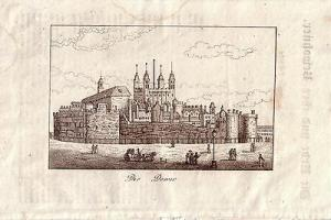 Tower London England Kupferstich um 1850 Großbritannien Britain
