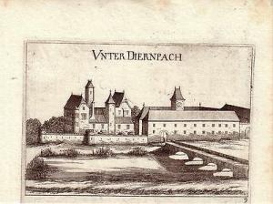 Unterdürnbach Niederösterreich  Orig Kupferstich G. M. Vischer 1672