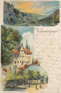 AK Rupprechtstegen Hartenstein Mittelfranken Litho gel 1900