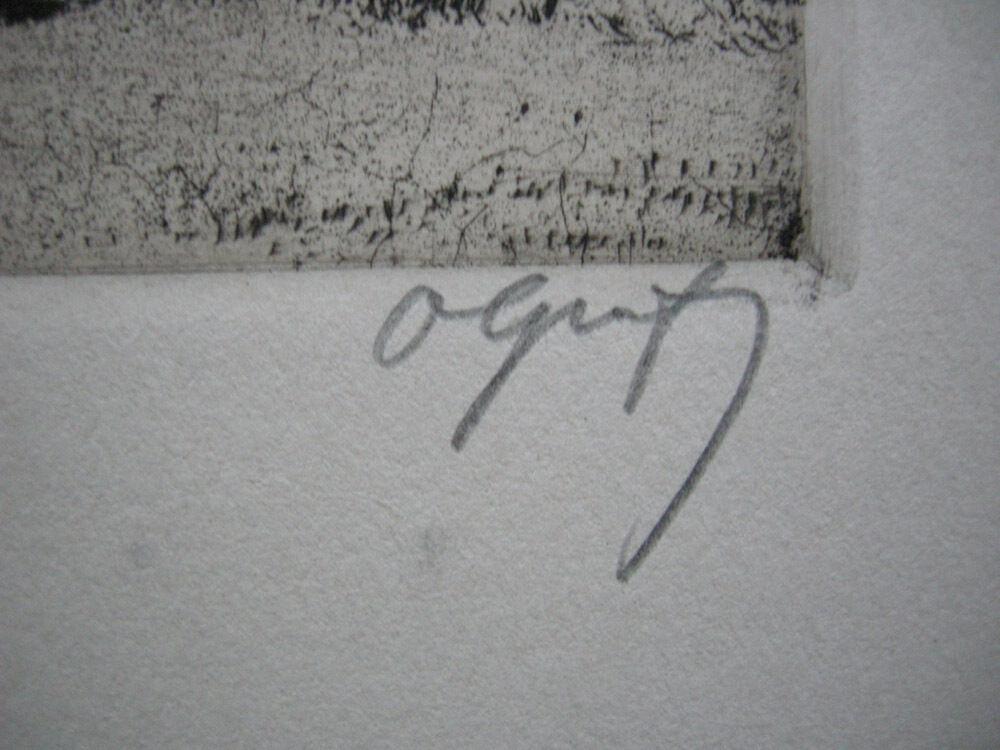 Oskar Graf (1873-1957) Zigeunerhütte Orig Radierung signiert 1910 2
