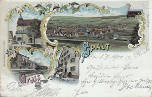 AK Spalt Roth Mittelfranken Mehrfachbild Litho gel 1900
