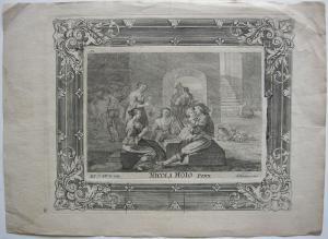 Joseph A. von Prenner (1683-1761) In der Schenke Orig Kupferstich N. Hoio 1750