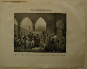 Pestkranke Jaffa Napoleon Orig Lithographie 1832 Napoleonische Kriege Israel