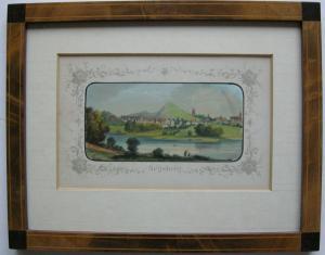 Segeberg Orig Farblithographie florale Bordüre Gottheil 1864 hübsch gerahmt