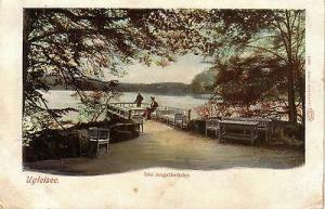 Ak Ugleisee Angelbnrücke Eutin Schleswig-Holstein Litho gel 1901