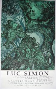 Luc Simon (1924-2011) Plakat Galerie Goltz München 1971 Orig Serigrafie signiert