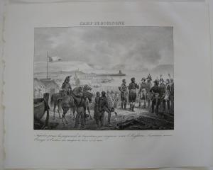 Napoleon Champ Boulogne Orig Lithographie 1832 Napoleonische Kriege