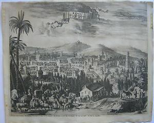 Ramla Rama Israel Orig. Kupferstich Hofmann nach Dapper 1668 Staffage