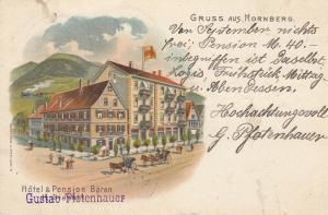 Ak Hornberg Hotel Pension Bären Ortenaukreis Litho gel. 1921