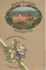 Ak Absolvia Pfarrkirchen Studentika Kriegsjahr 1918