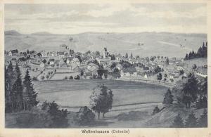 AK Waltenhausen Günzburg Krumbach Gesamtansicht Ostseite gel 1947 Litho